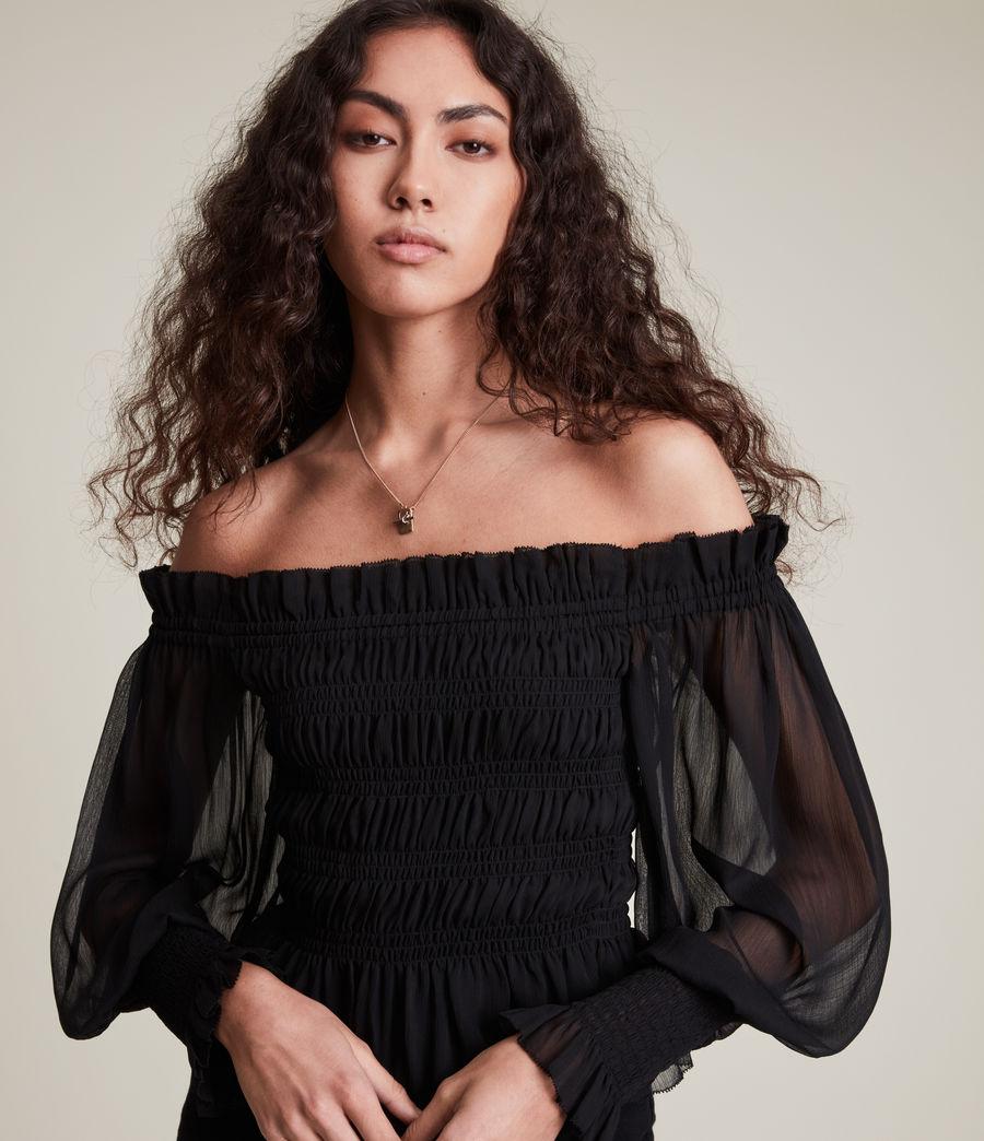 Women's Lara Top (black) - Image 2