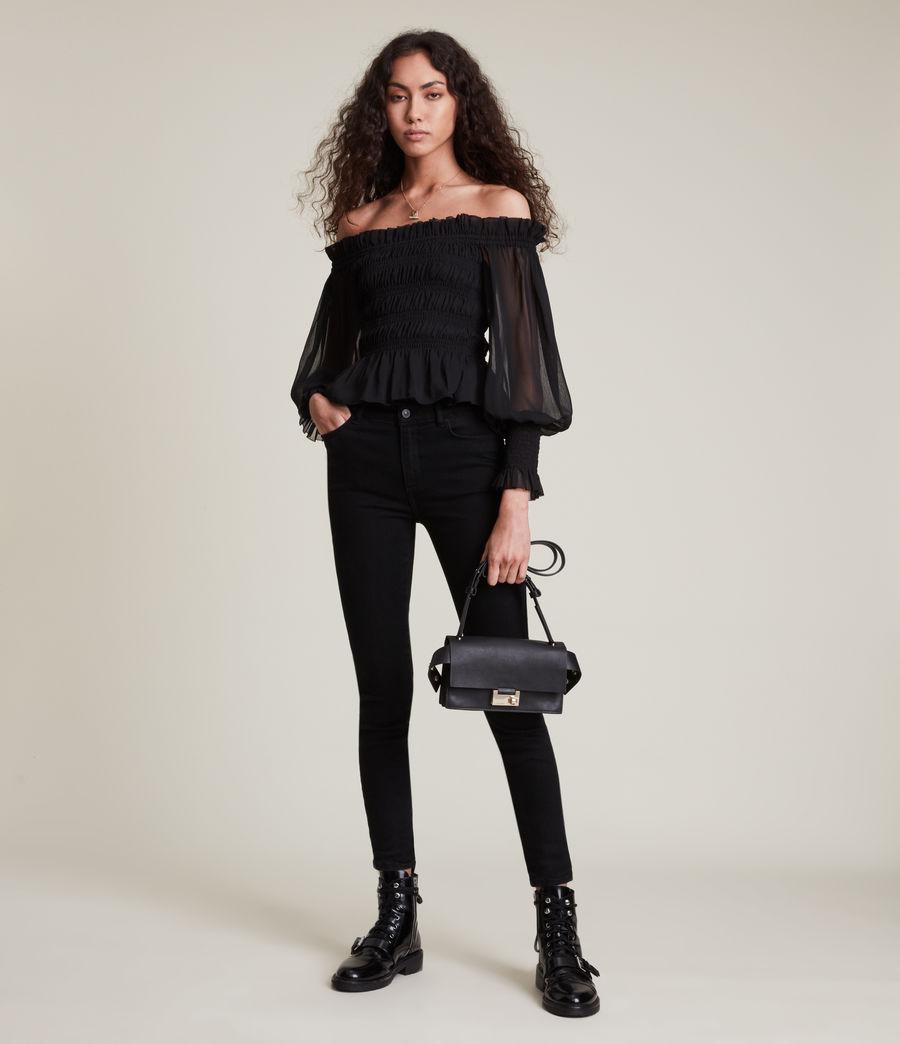 Women's Lara Top (black) - Image 3