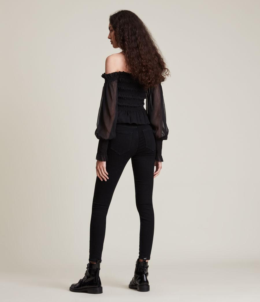 Women's Lara Top (black) - Image 4