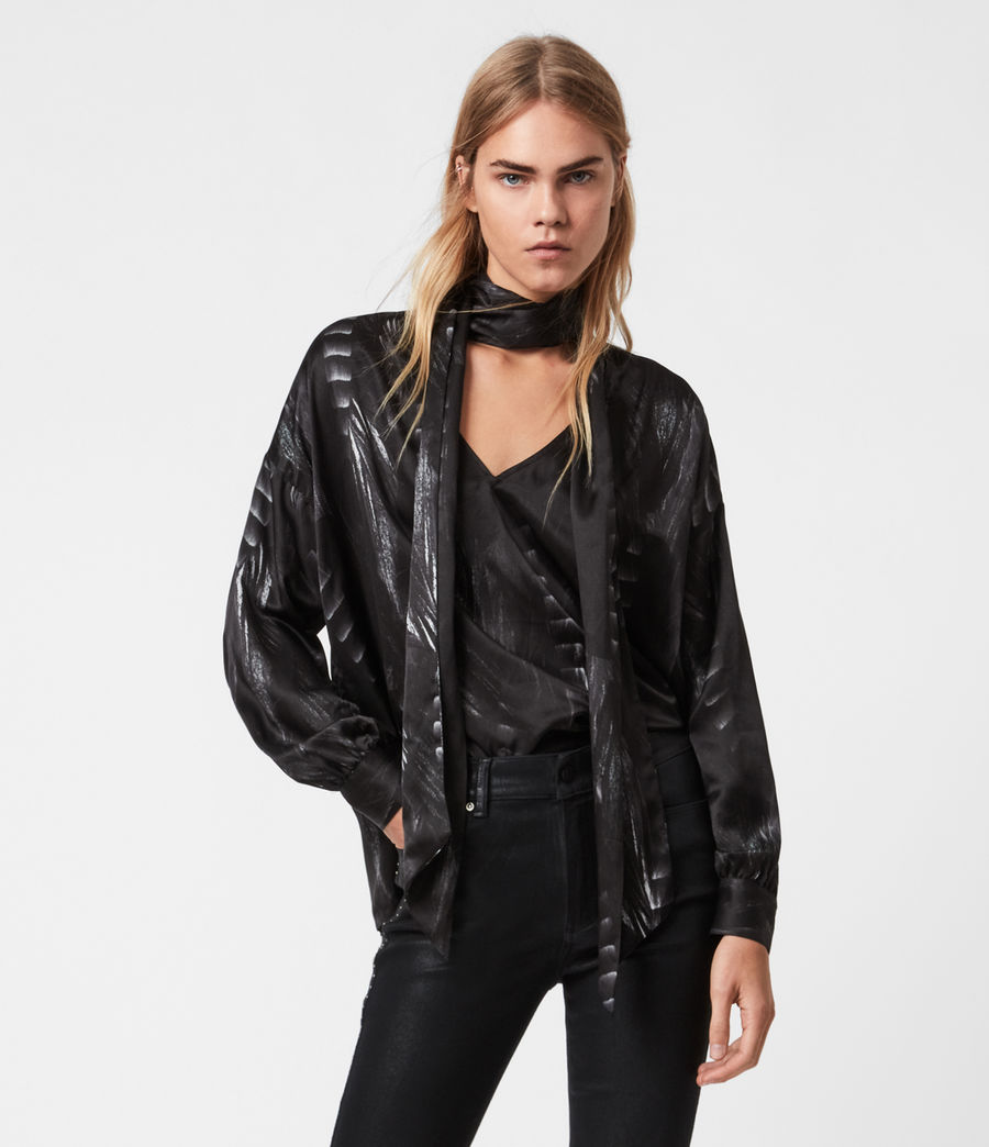 Womens Cesey Viola Top (black) - Image 1