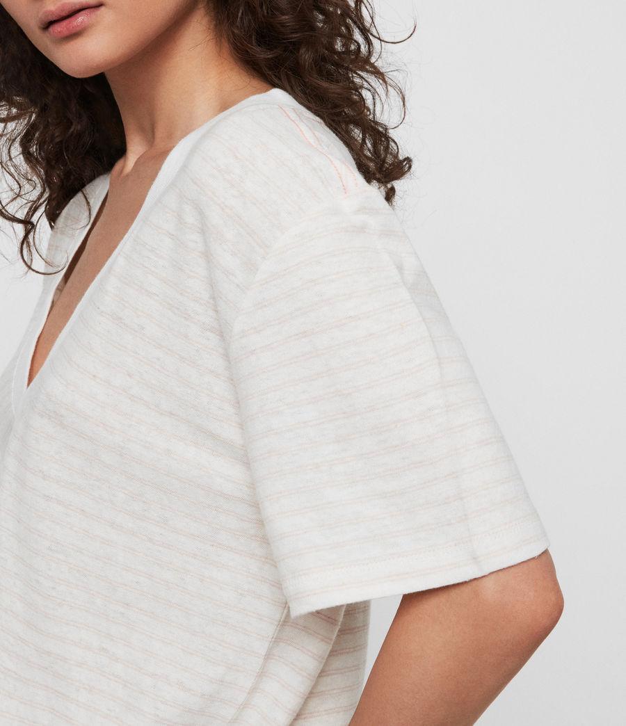 Women's Saro Stripe T-Shirt (chalk_bleach_pink) - Image 3