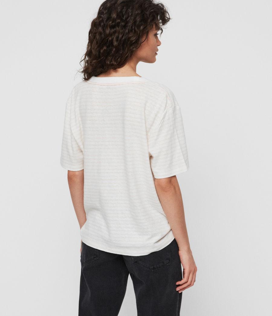 Women's Saro Stripe T-Shirt (chalk_bleach_pink) - Image 4