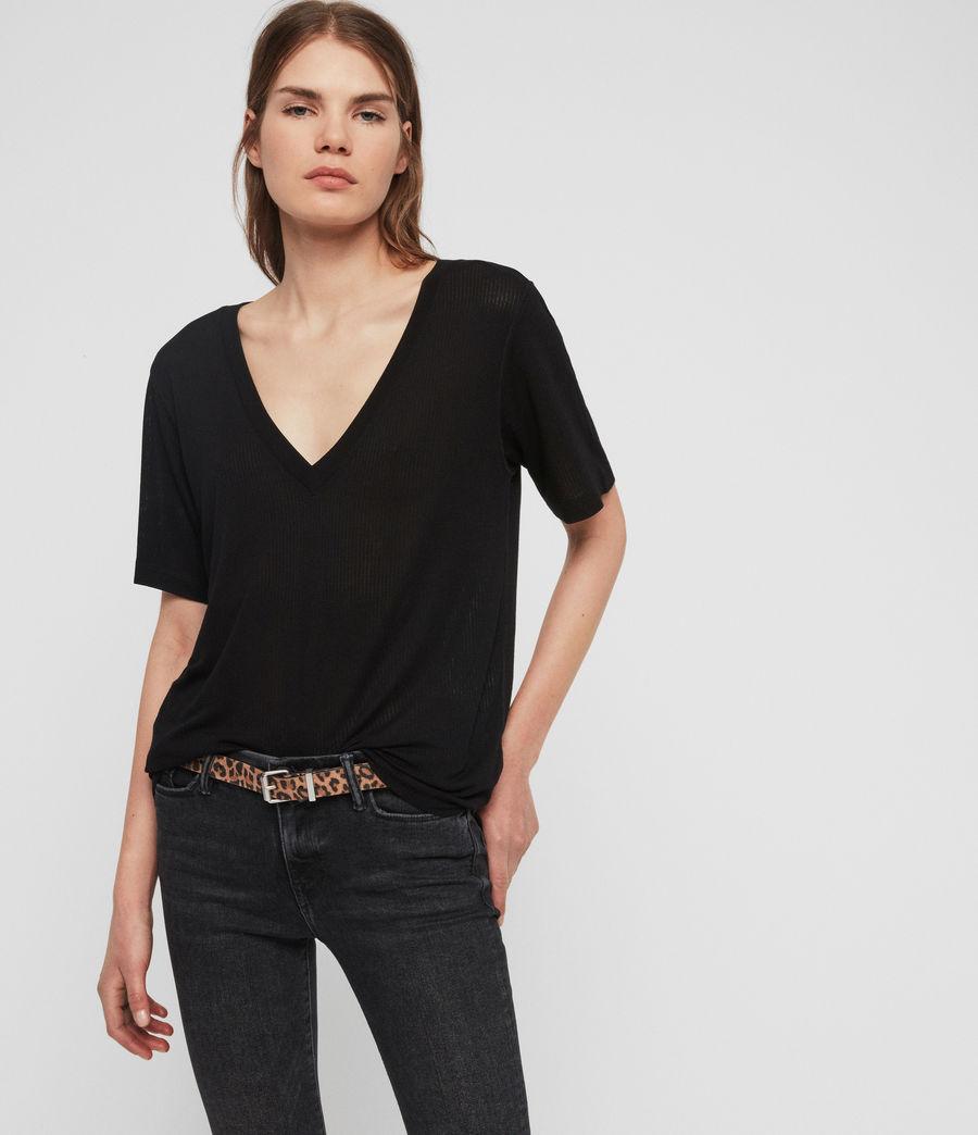 Women's Saro Knit Top (black) - Image 1