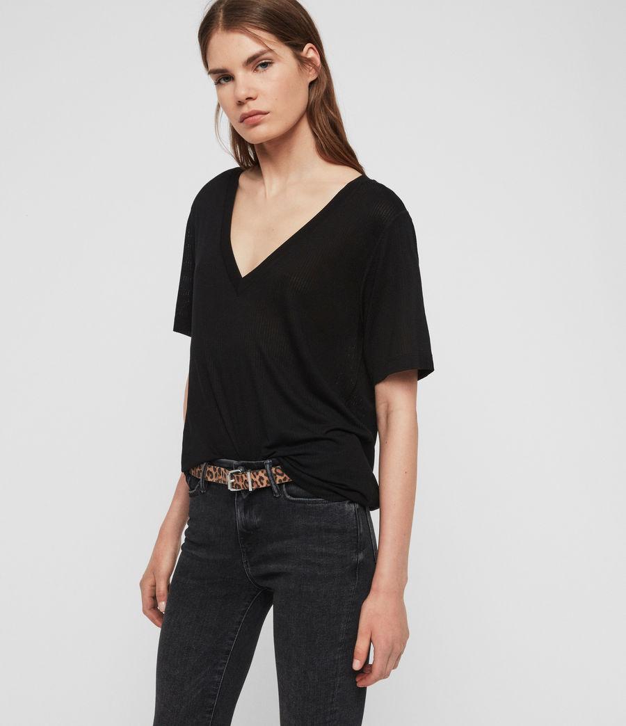 Women's Saro Knit Top (black) - Image 2