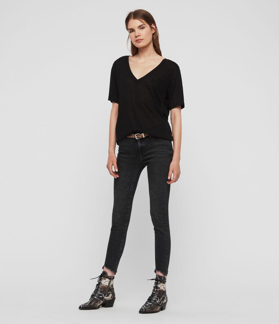 Women's Saro Knit Top (black) - Image 3