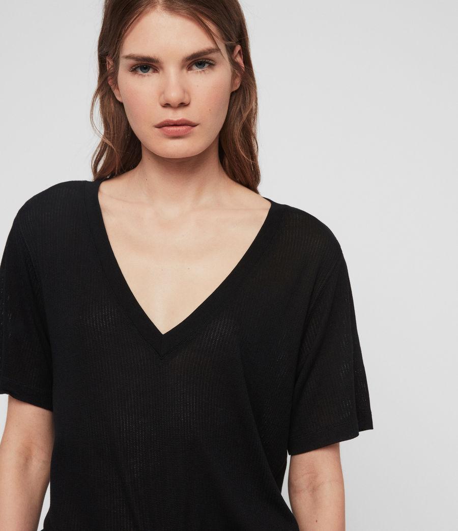 Women's Saro Knit Top (black) - Image 4
