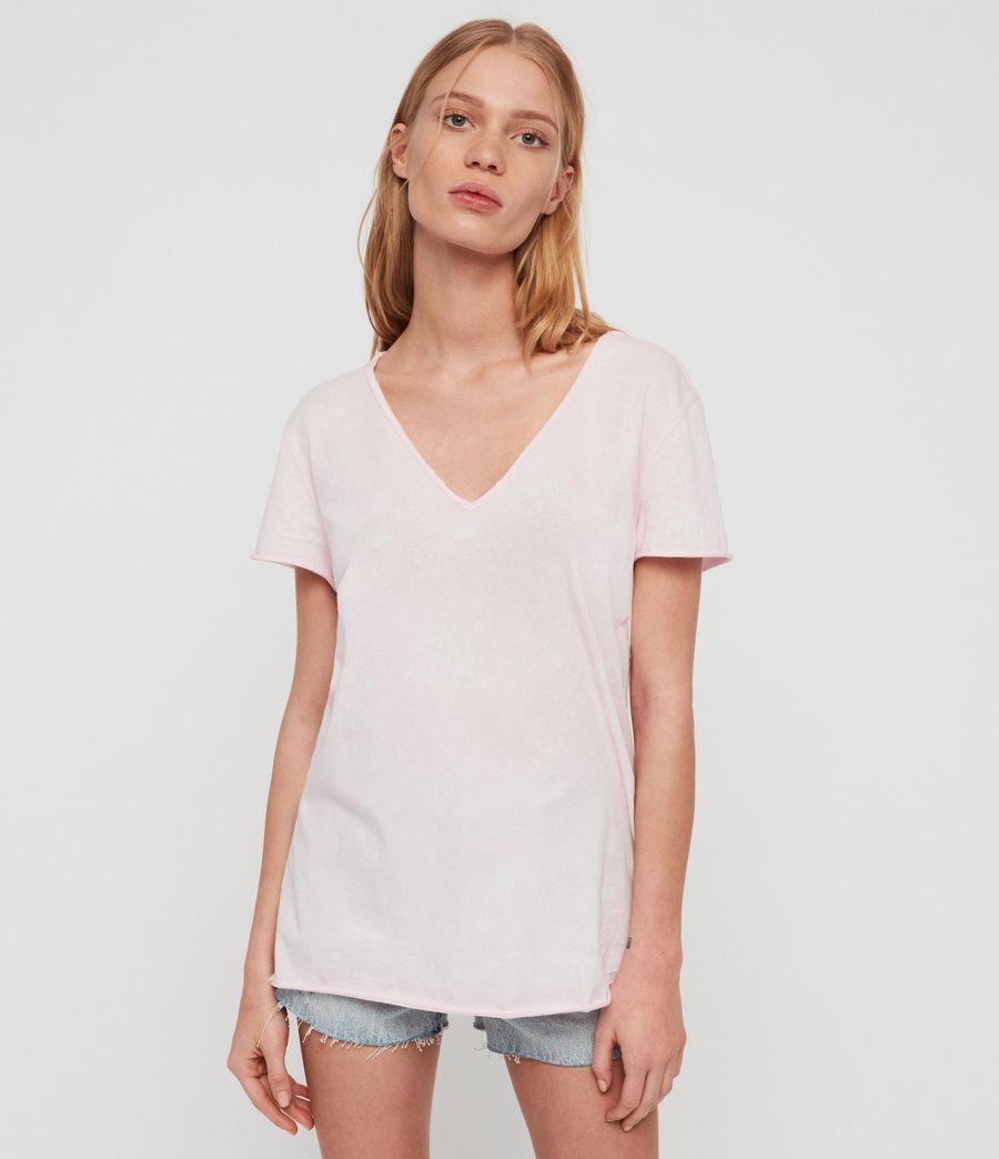 Womens Emelyn Splatter T-Shirt (bubblegum_pink) - Image 1