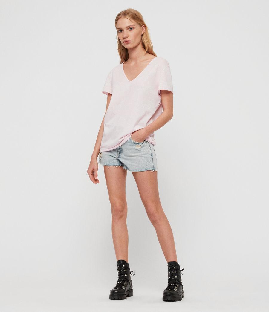 Womens Emelyn Splatter T-Shirt (bubblegum_pink) - Image 2