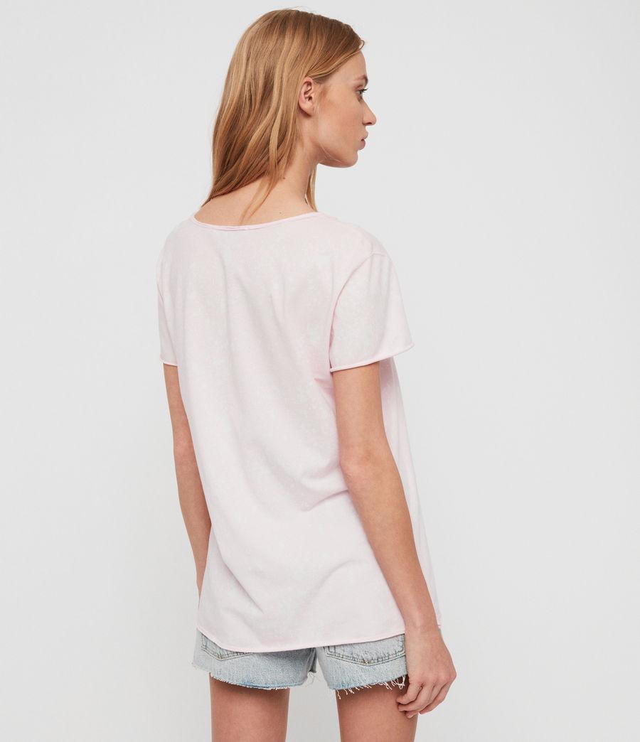 Womens Emelyn Splatter T-Shirt (bubblegum_pink) - Image 4
