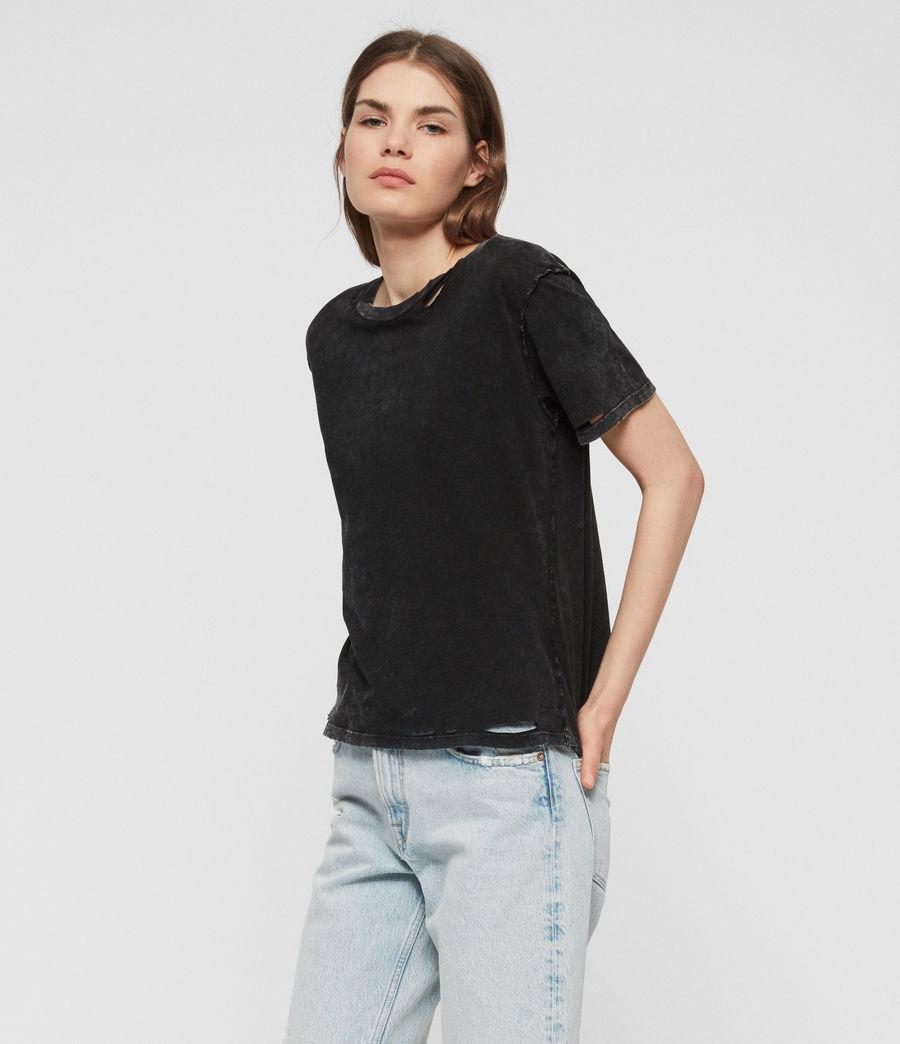 Womens Dime T-shirt (acid_washed_black) - Image 1