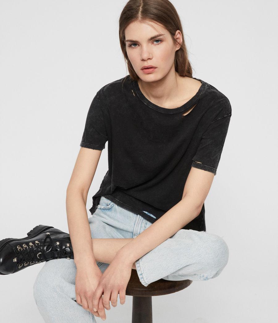 Womens Dime T-shirt (acid_washed_black) - Image 2