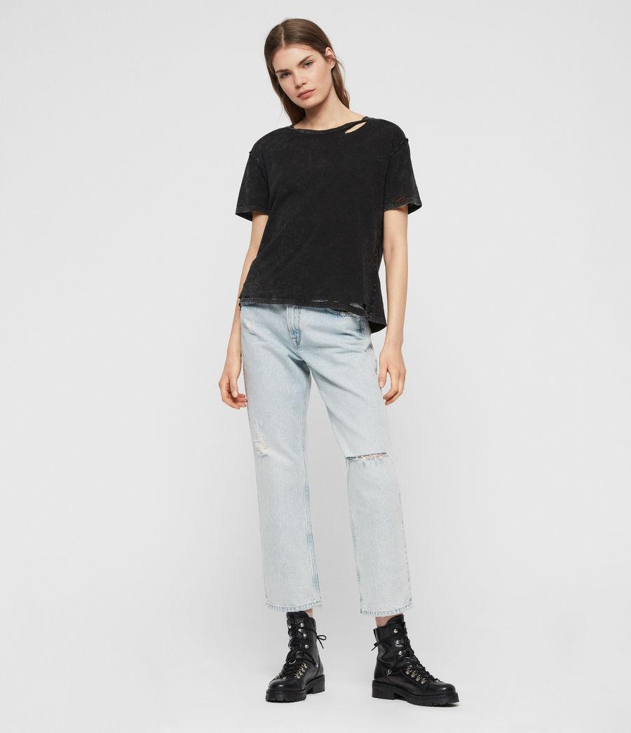Womens Dime T-shirt (acid_washed_black) - Image 3