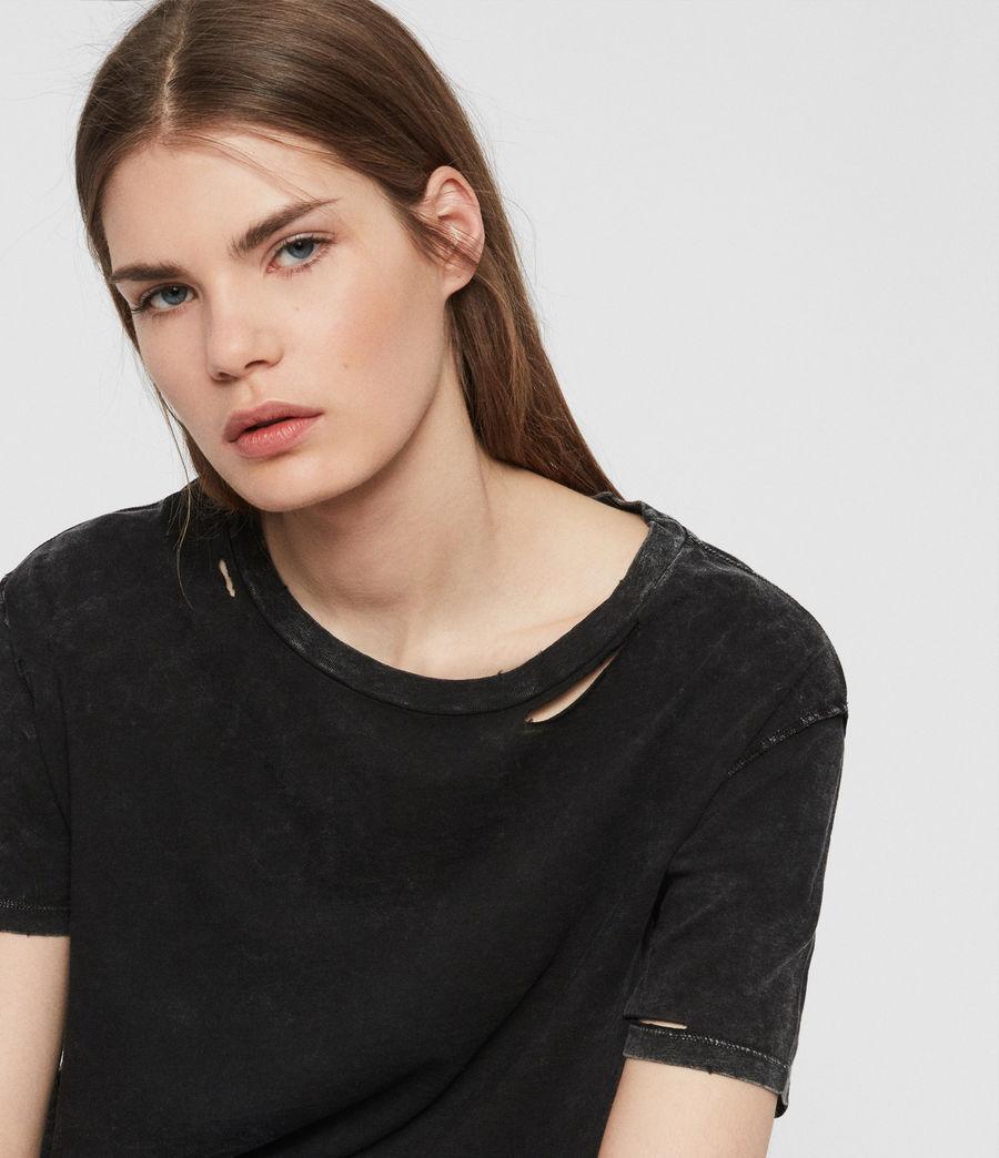 Womens Dime T-shirt (acid_washed_black) - Image 4