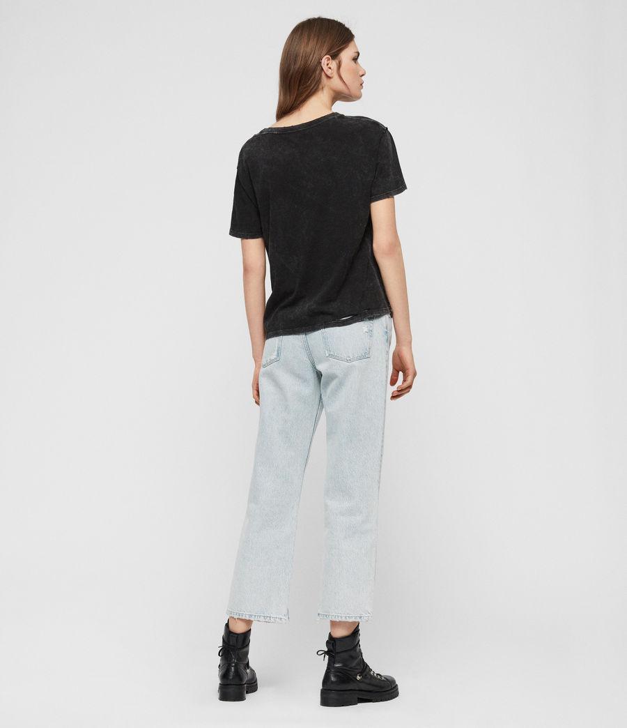 Womens Dime T-shirt (acid_washed_black) - Image 5