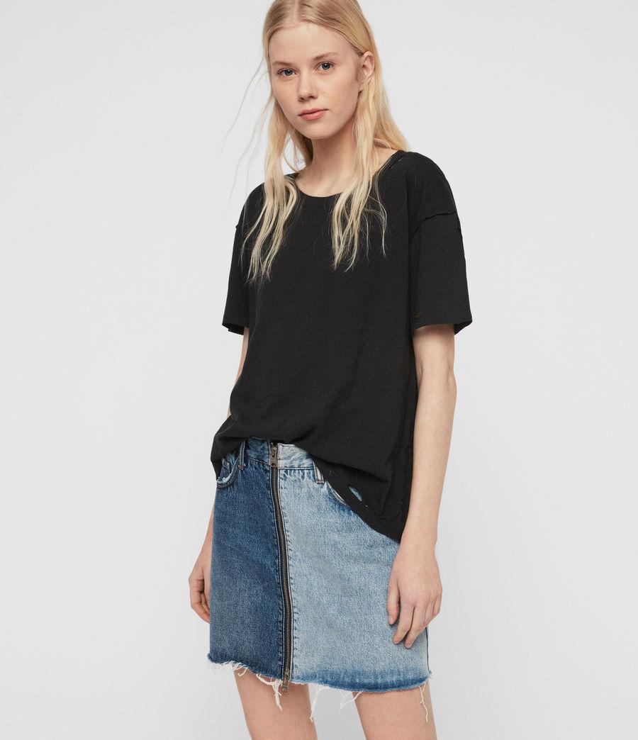 Womens Dime T-Shirt (black) - Image 1