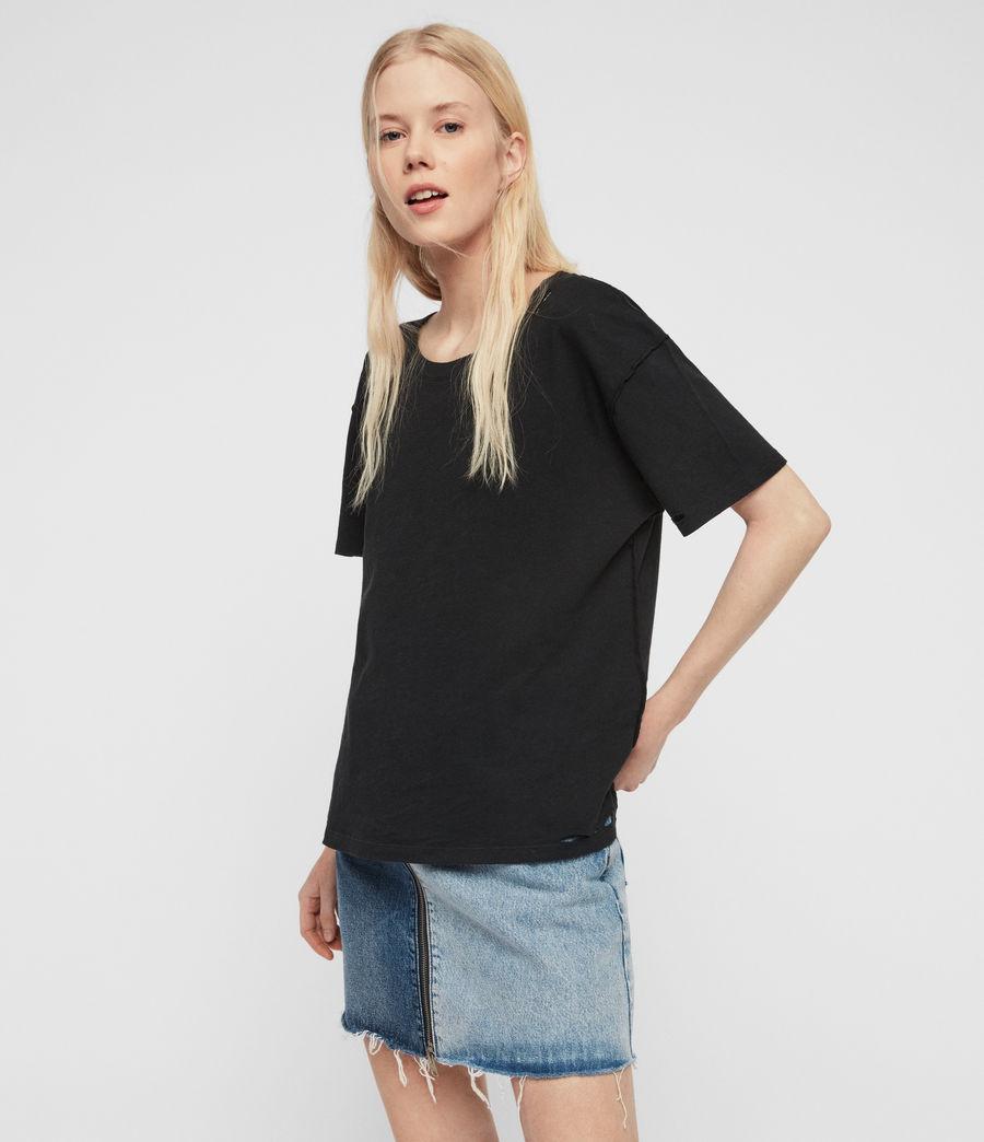 Womens Dime T-Shirt (black) - Image 2