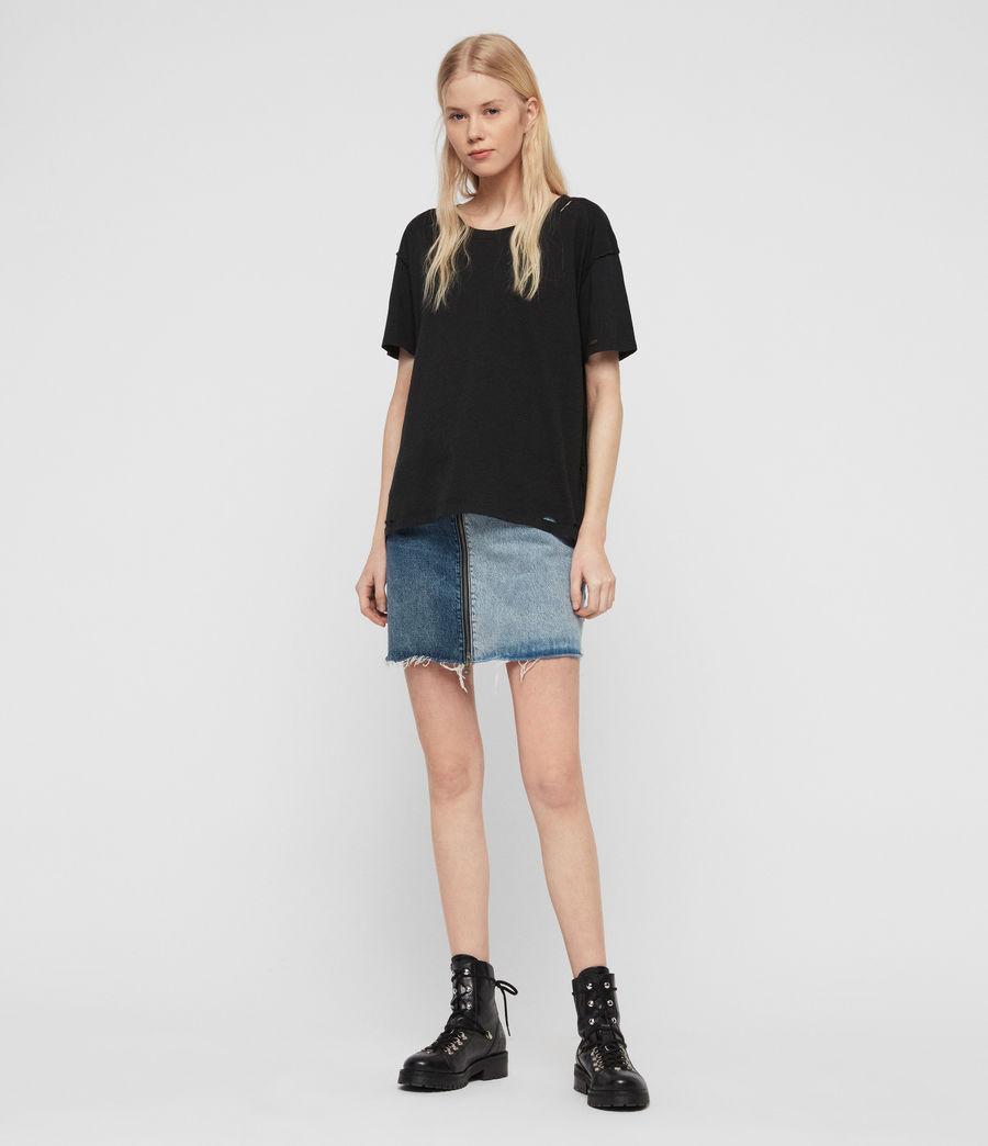 Womens Dime T-Shirt (black) - Image 3
