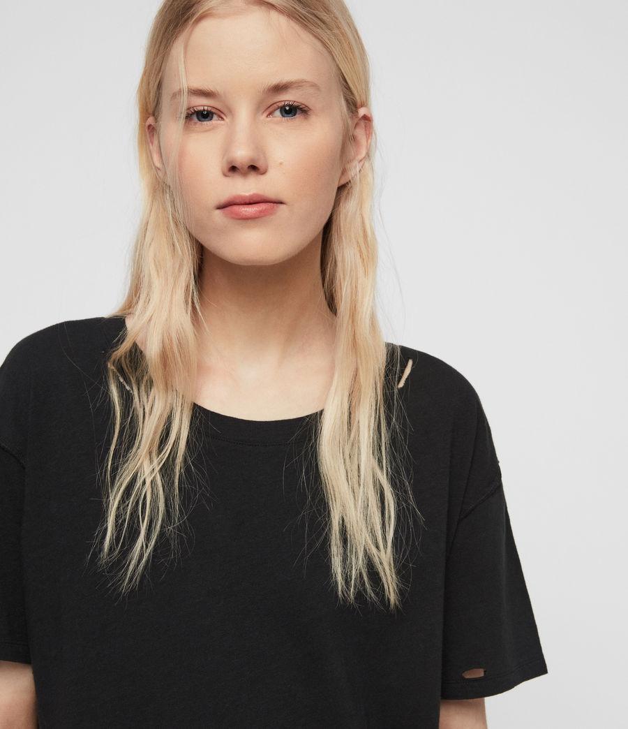 Womens Dime T-Shirt (black) - Image 4