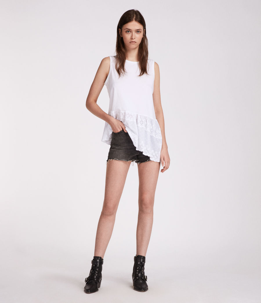 Mujer Top Marguerite Adelaide (chalk_white) - Image 1