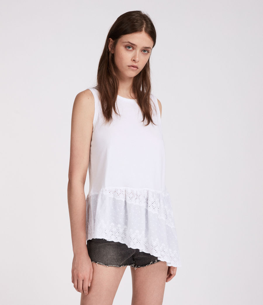 Mujer Top Marguerite Adelaide (chalk_white) - Image 3