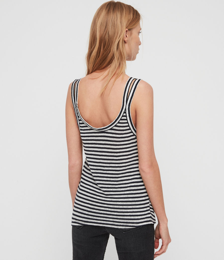 Womens Tina Stripe Tank (chalk_ink_blue) - Image 4