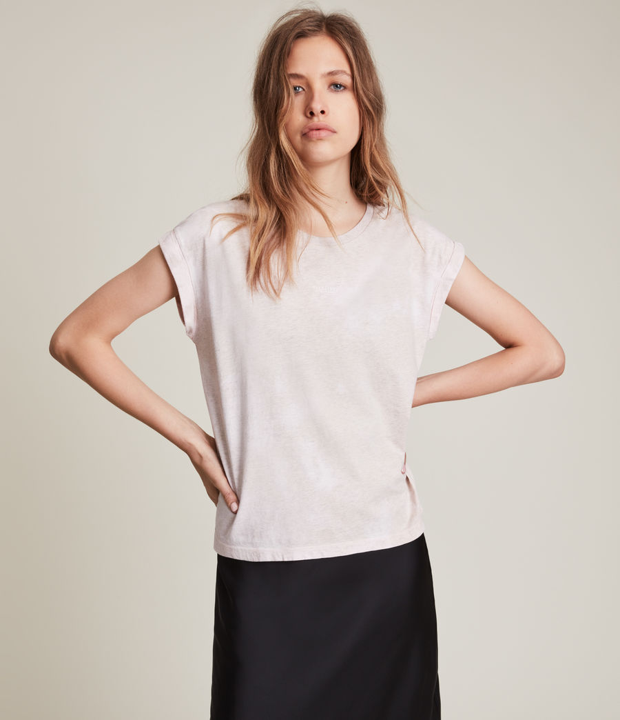 Women's Sasha Tie Dye T-Shirt (pink_marl) - Image 3