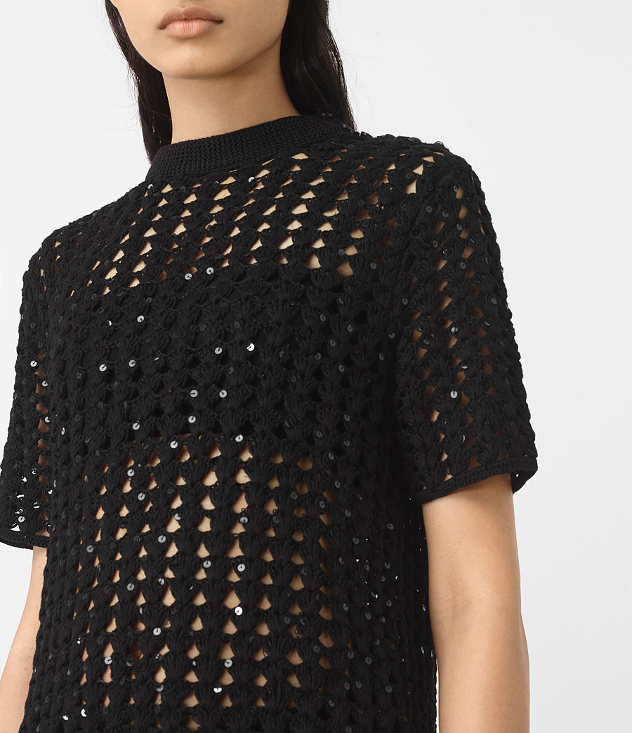 Women's Alyse Embellished Top (black) - Image 3