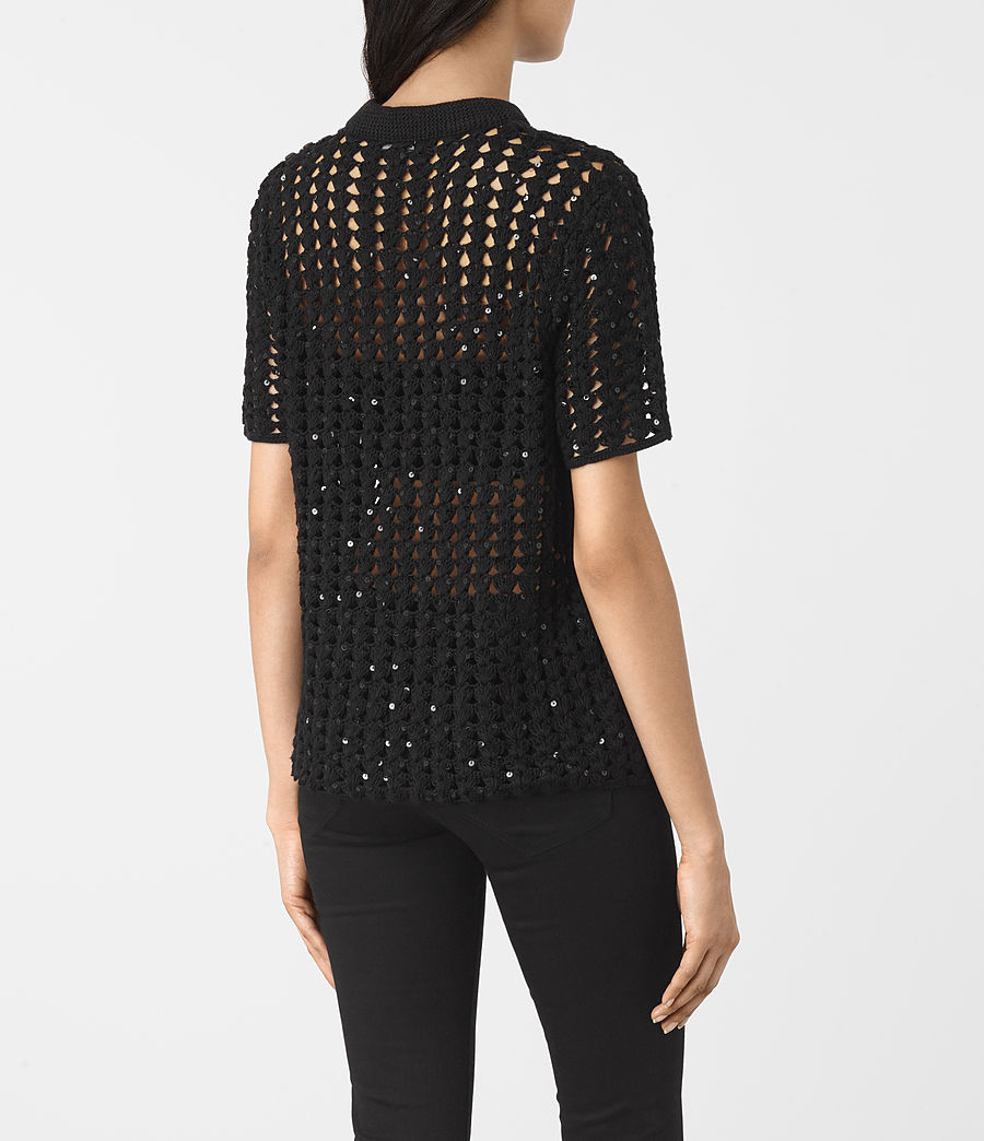 Women's Alyse Embellished Top (black) - Image 4