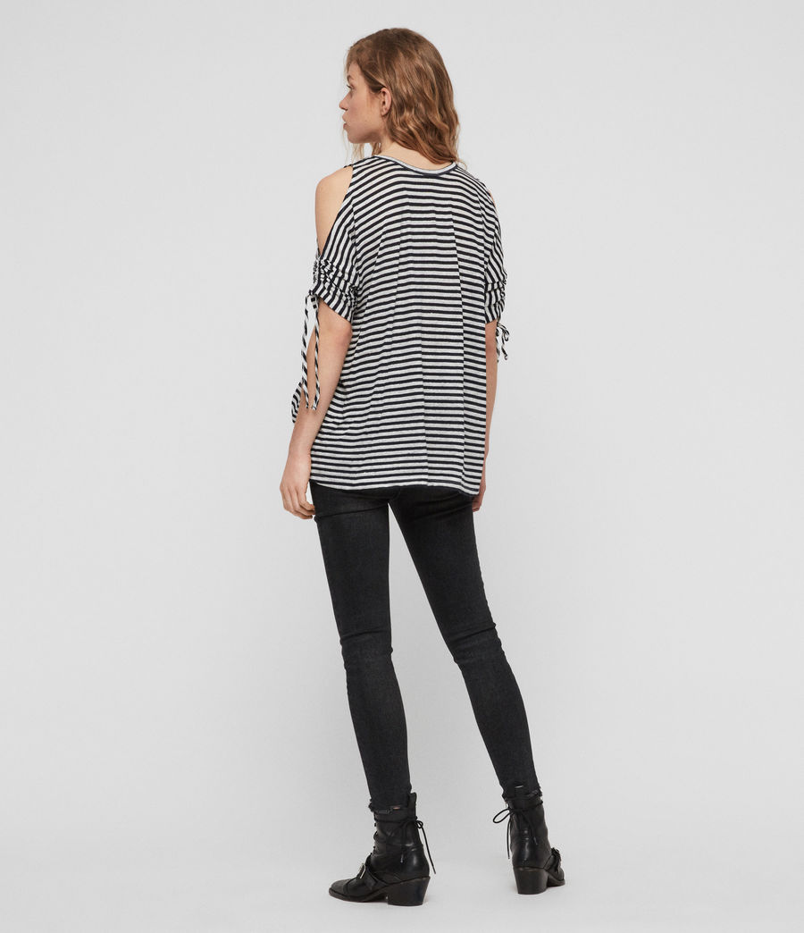 Damen Harper Stripe T-Shirt (chalk_ink_blue) - Image 4