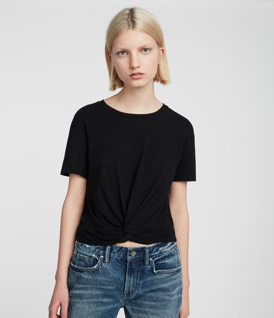 Damen Carme Fifi T-Shirt (jet_black) - Image 2