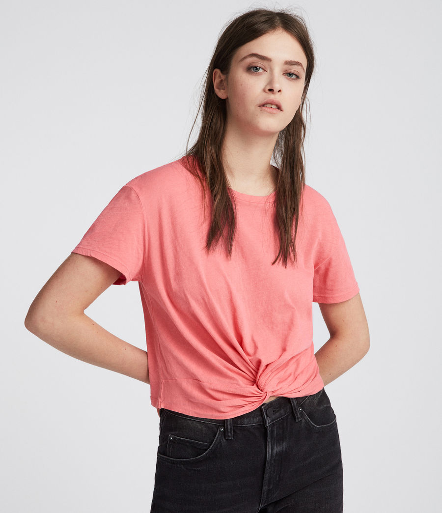 Womens Carme Fifi T-Shirt (flamingo_pink) - Image 1