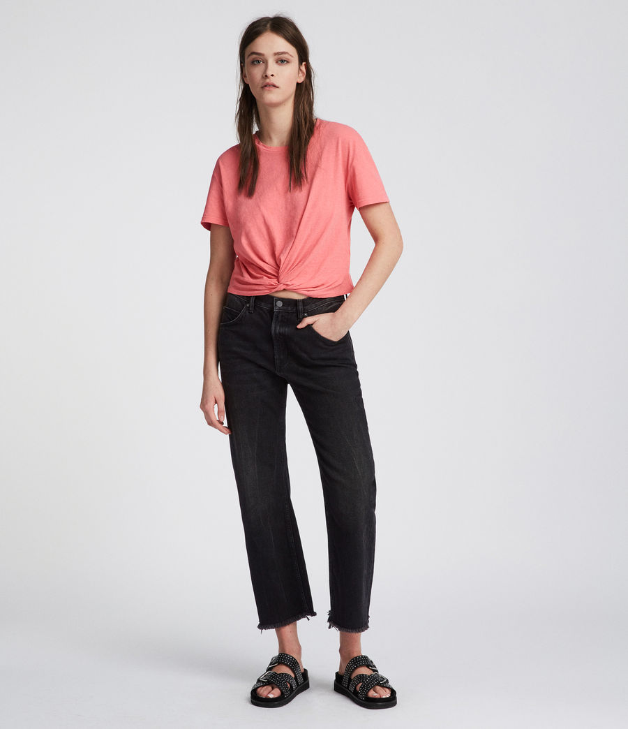 Womens Carme Fifi T-Shirt (flamingo_pink) - Image 2