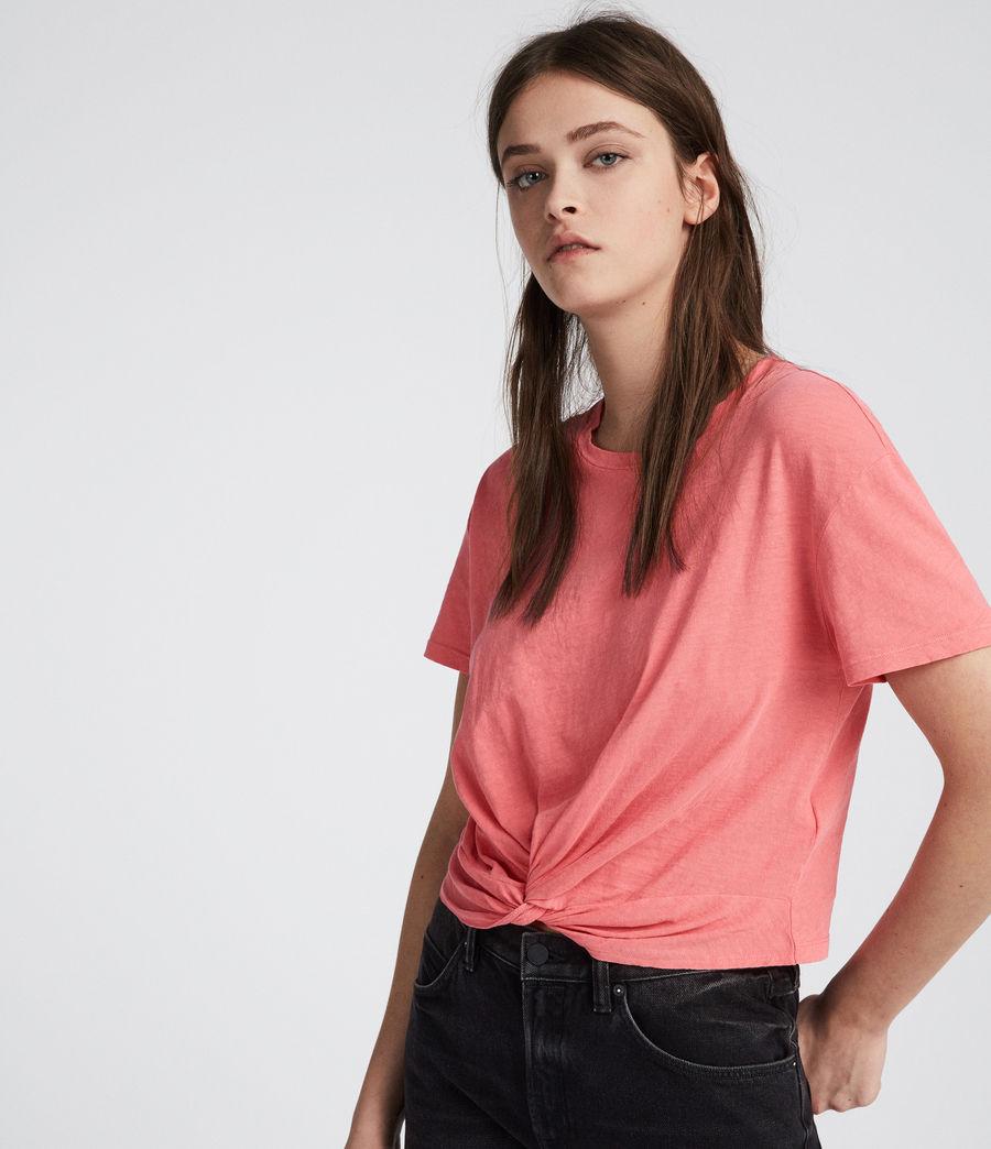 Womens Carme Fifi T-Shirt (flamingo_pink) - Image 3