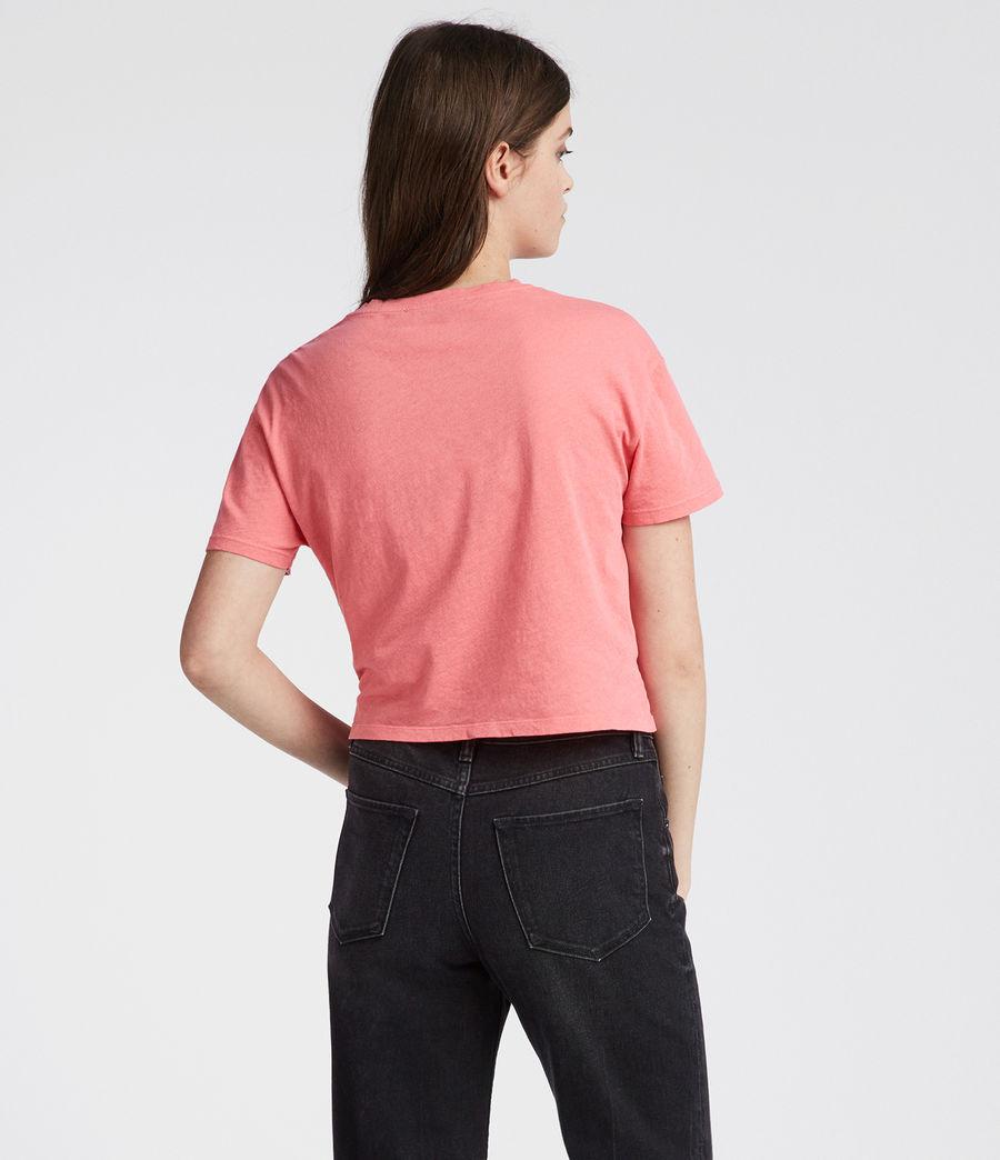 Womens Carme Fifi T-Shirt (flamingo_pink) - Image 4