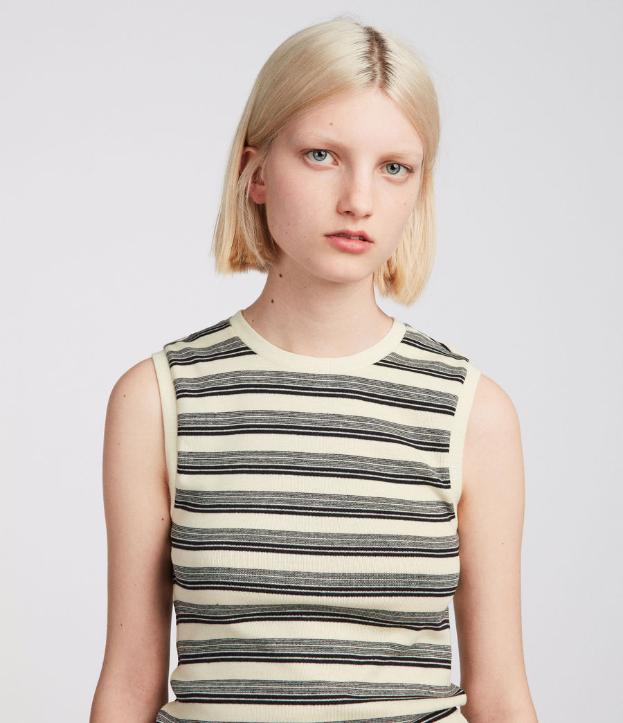 Women's Imogen Stripe Tank (cream_black) - Image 2