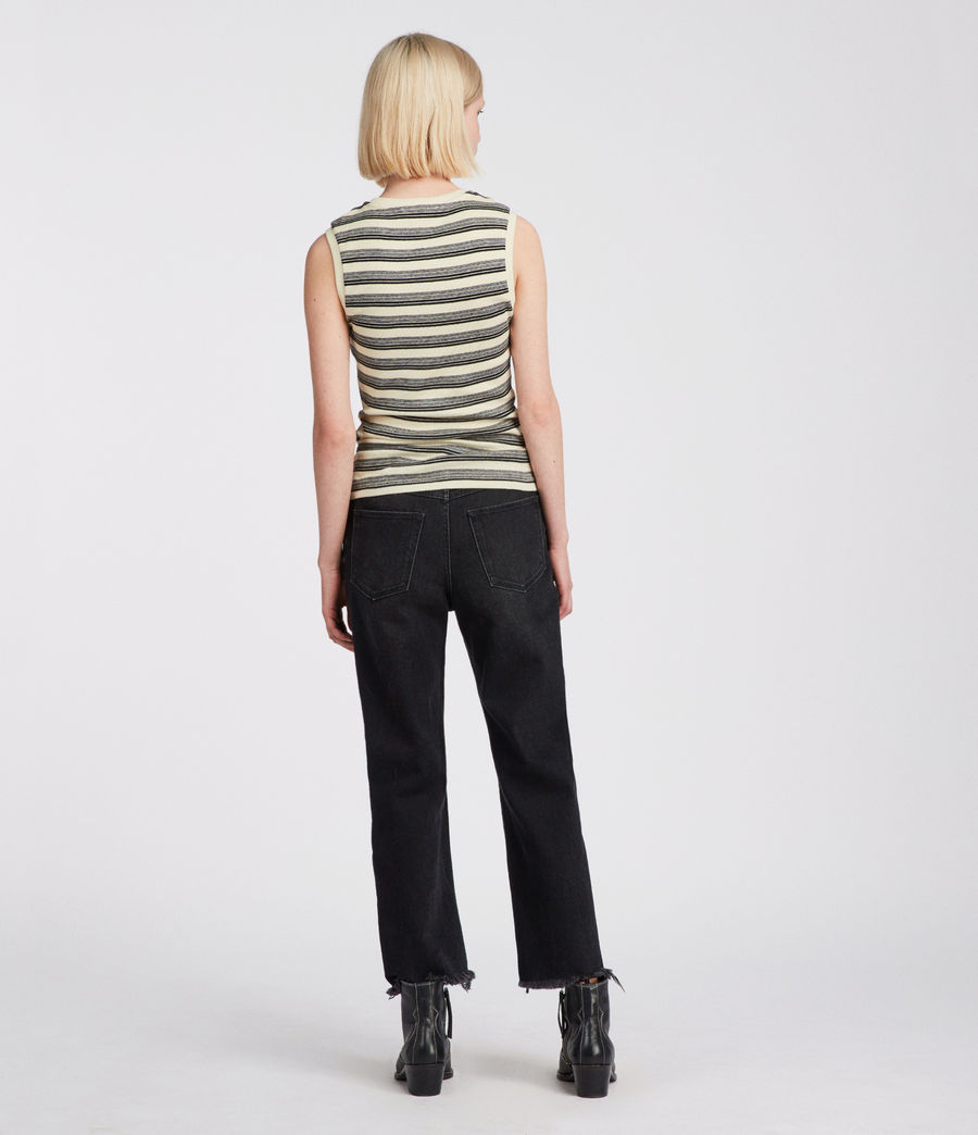 Women's Imogen Stripe Tank (cream_black) - Image 3