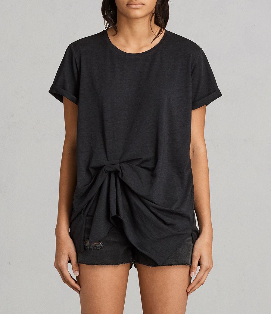 Womens Riviera Devo T-Shirt (dark_night_blue) - Image 1