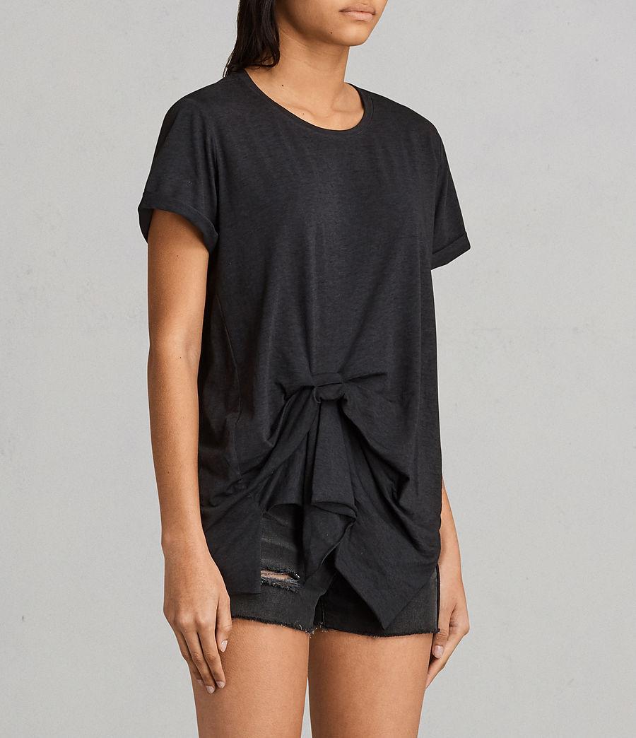 Womens Riviera Devo T-Shirt (dark_night_blue) - Image 2