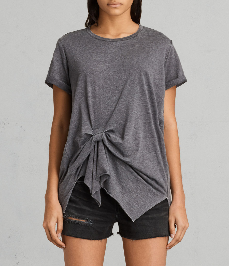 Womens Riviera Devo T-Shirt (coal_grey) - Image 1