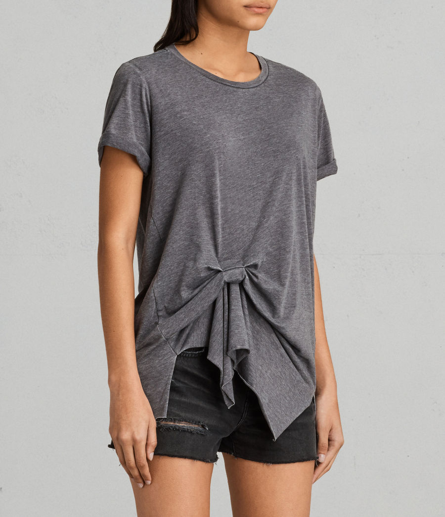 Womens Riviera Devo T-Shirt (coal_grey) - Image 2
