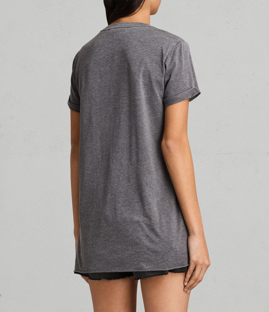 Womens Riviera Devo T-Shirt (coal_grey) - Image 3