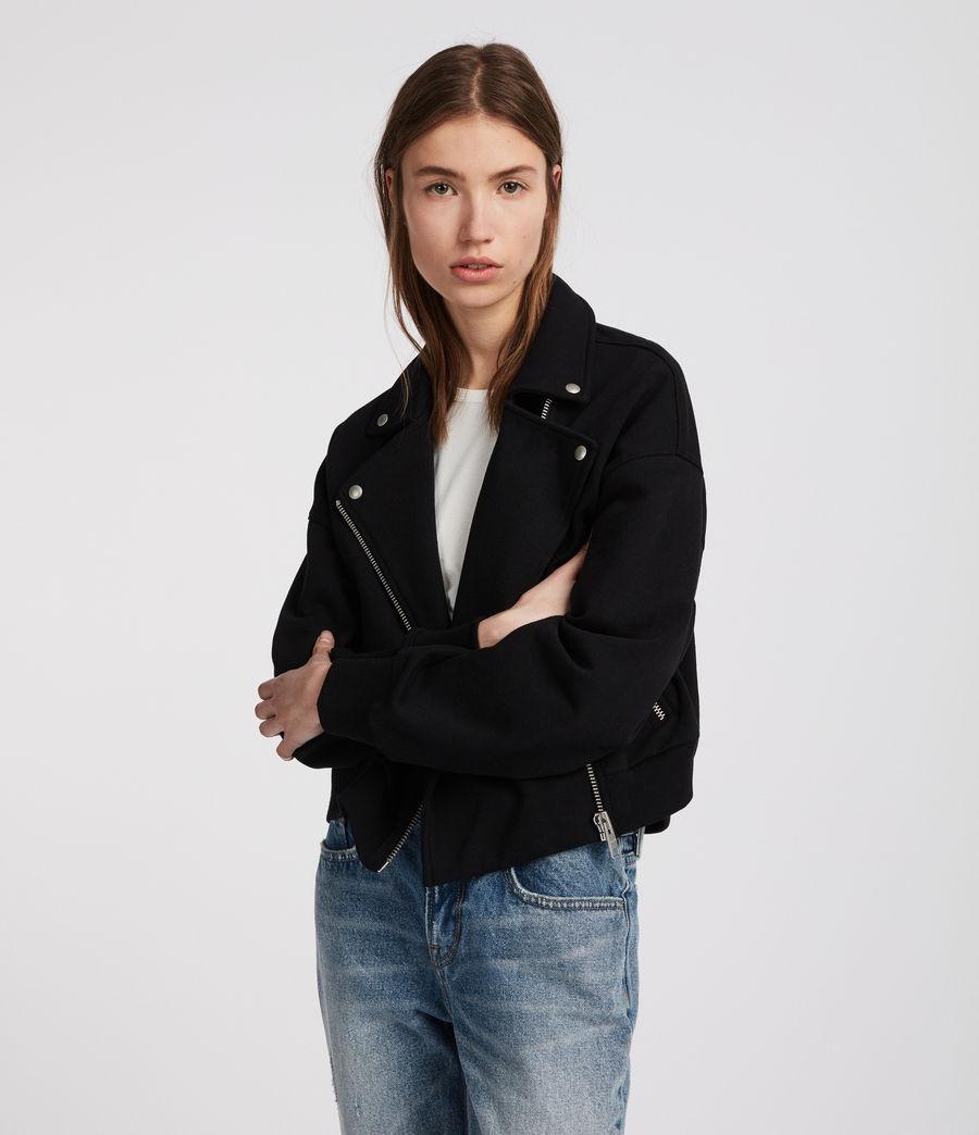 Femmes Perfecto en coton Nina (jet_black) - Image 1