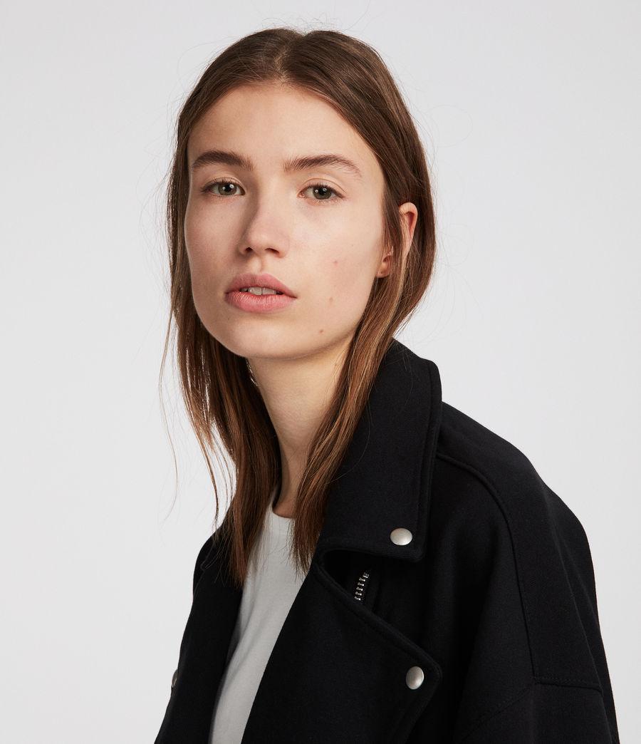 Femmes Perfecto en coton Nina (jet_black) - Image 3