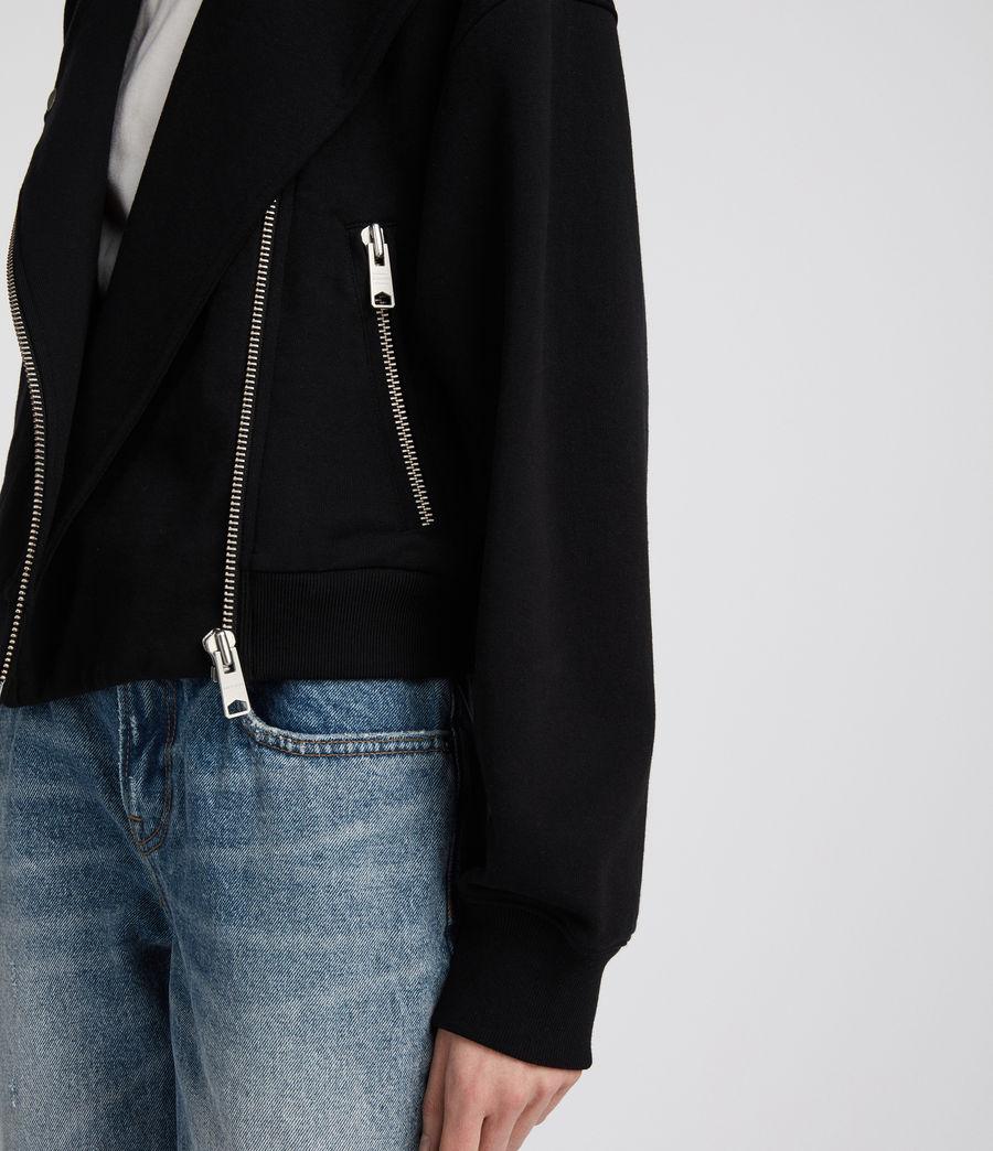 Femmes Perfecto en coton Nina (jet_black) - Image 4