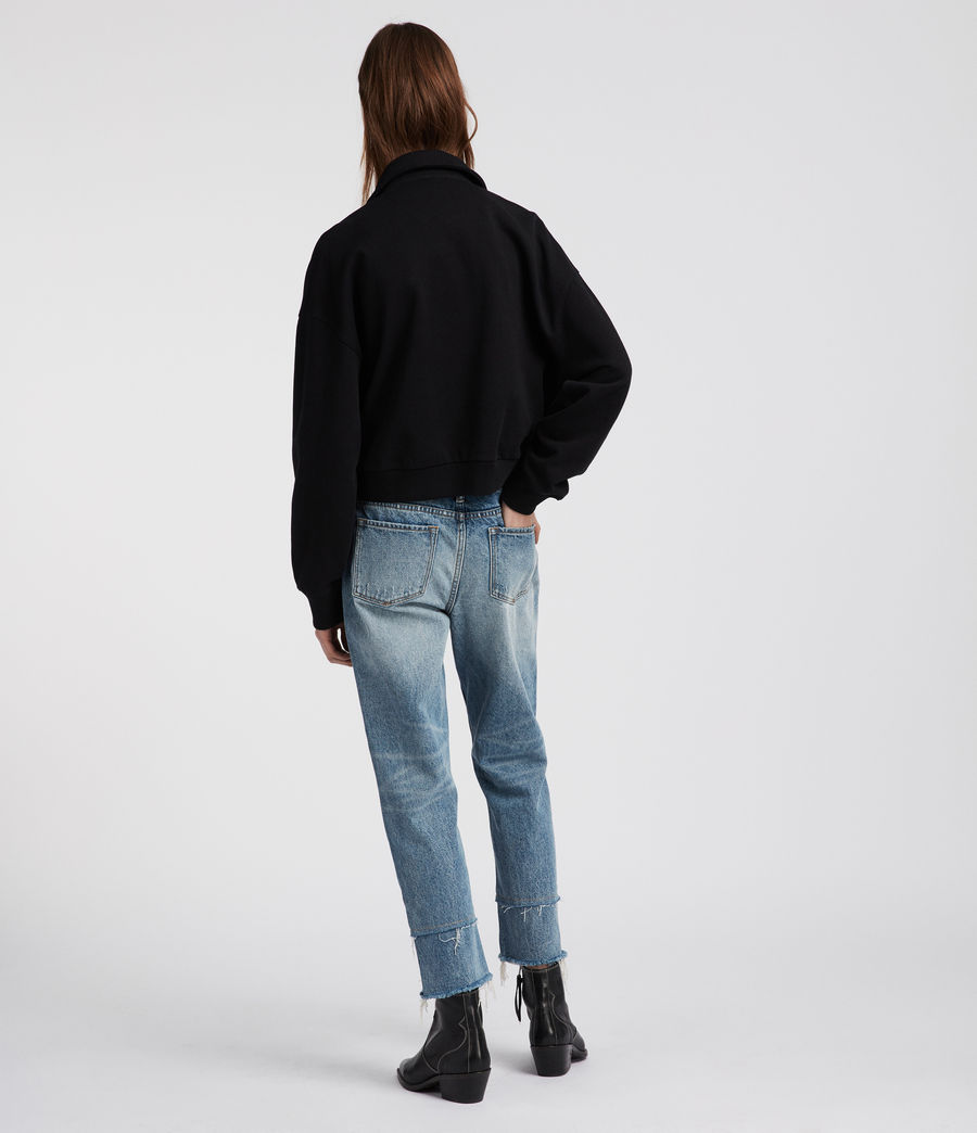 Femmes Perfecto en coton Nina (jet_black) - Image 5