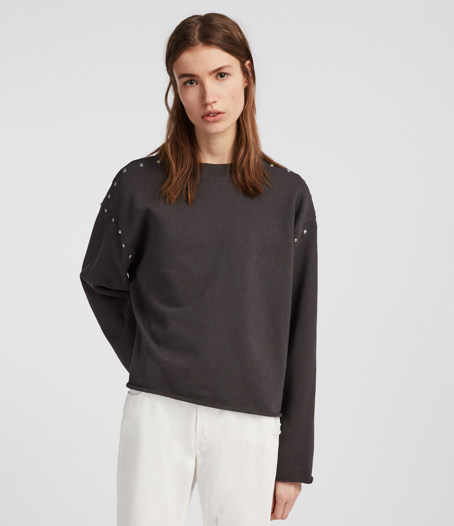 Womens Simmi Sweatshirt (washed_black) - Image 3