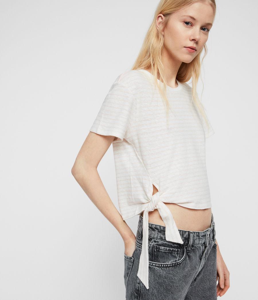 Womens Tujen Stripe T-Shirt (chalk_bleach_pink) - Image 1