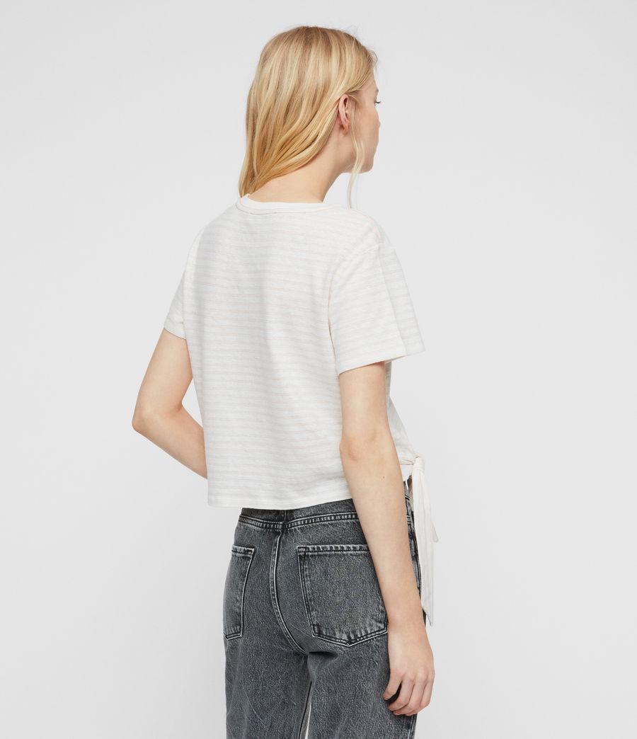 Womens Tujen Stripe T-Shirt (chalk_bleach_pink) - Image 4