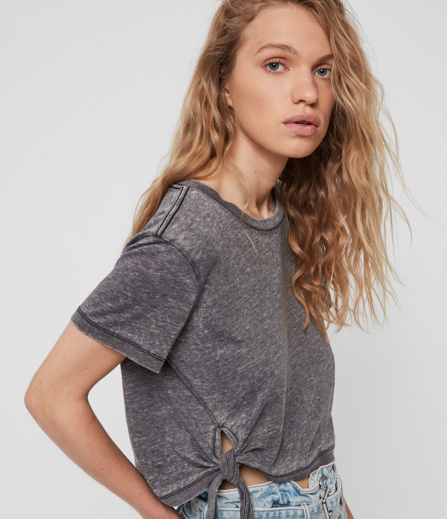 Womens Tujen T-Shirt (coal_grey) - Image 3