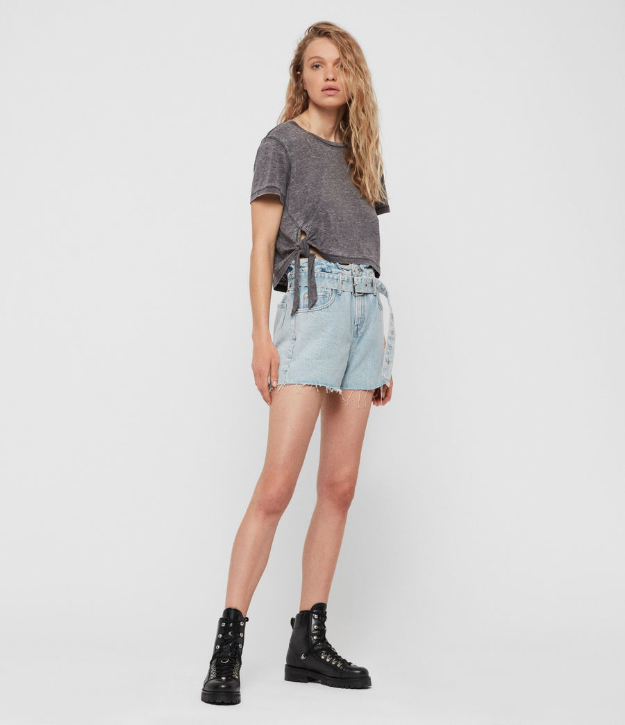 Womens Tujen T-Shirt (coal_grey) - Image 4